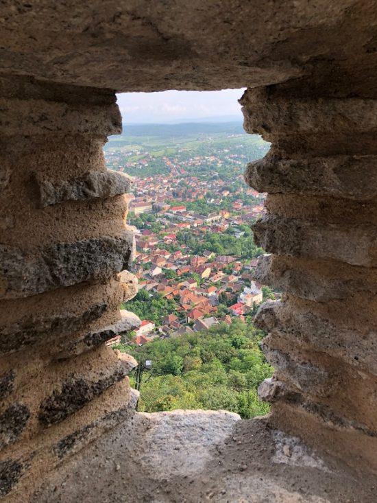 Vedere asupra orașului Deva